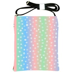 Christmas Happy Holidays Snowflakes Shoulder Sling Bags