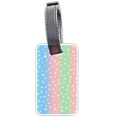 Christmas Happy Holidays Snowflakes Luggage Tags (One Side)