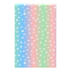Christmas Happy Holidays Snowflakes Shower Curtain 48  x 72  (Small)