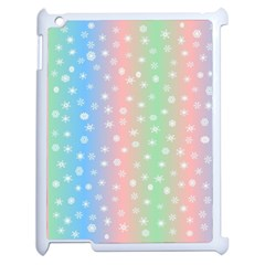 Christmas Happy Holidays Snowflakes Apple Ipad 2 Case (white)