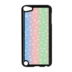 Christmas Happy Holidays Snowflakes Apple iPod Touch 5 Case (Black)