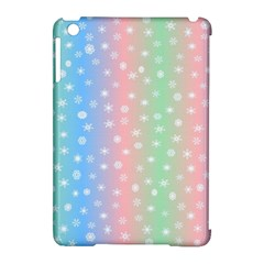 Christmas Happy Holidays Snowflakes Apple iPad Mini Hardshell Case (Compatible with Smart Cover)