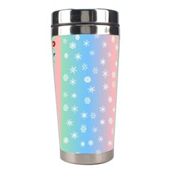 Christmas Happy Holidays Snowflakes Stainless Steel Travel Tumblers