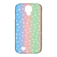 Christmas Happy Holidays Snowflakes Samsung Galaxy S4 Classic Hardshell Case (PC+Silicone)