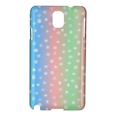 Christmas Happy Holidays Snowflakes Samsung Galaxy Note 3 N9005 Hardshell Case
