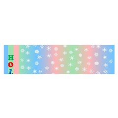 Christmas Happy Holidays Snowflakes Satin Scarf (Oblong)