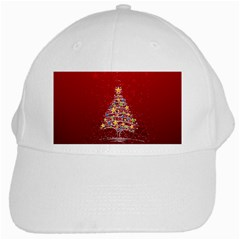 Colorful Christmas Tree White Cap