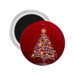 Colorful Christmas Tree 2.25  Magnets