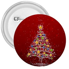 Colorful Christmas Tree 3  Buttons