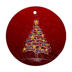 Colorful Christmas Tree Ornament (round)