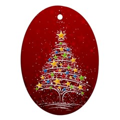 Colorful Christmas Tree Ornament (Oval)