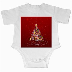 Colorful Christmas Tree Infant Creepers