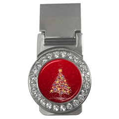 Colorful Christmas Tree Money Clips (CZ)
