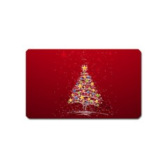 Colorful Christmas Tree Magnet (name Card)