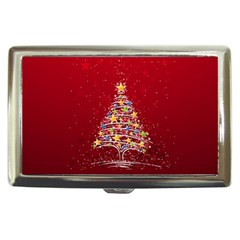 Colorful Christmas Tree Cigarette Money Cases
