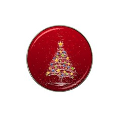 Colorful Christmas Tree Hat Clip Ball Marker (10 pack)