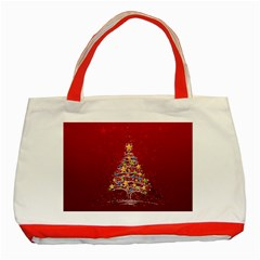 Colorful Christmas Tree Classic Tote Bag (Red)