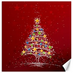 Colorful Christmas Tree Canvas 16  x 16