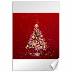 Colorful Christmas Tree Canvas 20  x 30