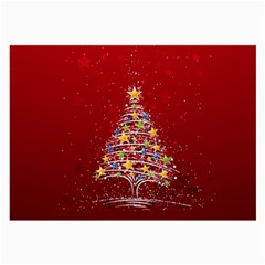 Colorful Christmas Tree Large Glasses Cloth