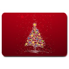 Colorful Christmas Tree Large Doormat