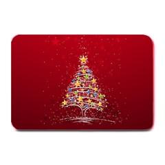 Colorful Christmas Tree Plate Mats