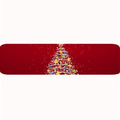 Colorful Christmas Tree Large Bar Mats