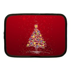 Colorful Christmas Tree Netbook Case (Medium)