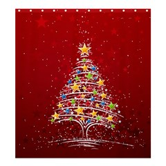 Colorful Christmas Tree Shower Curtain 66  x 72  (Large)