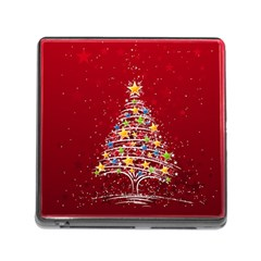 Colorful Christmas Tree Memory Card Reader (Square)