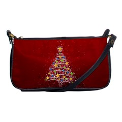 Colorful Christmas Tree Shoulder Clutch Bags
