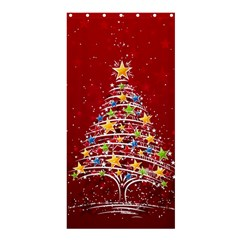 Colorful Christmas Tree Shower Curtain 36  x 72  (Stall)