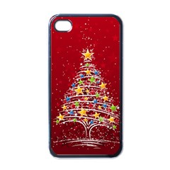 Colorful Christmas Tree Apple Iphone 4 Case (black)
