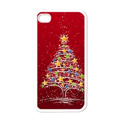 Colorful Christmas Tree Apple iPhone 4 Case (White)