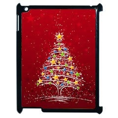 Colorful Christmas Tree Apple iPad 2 Case (Black)
