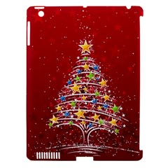 Colorful Christmas Tree Apple iPad 3/4 Hardshell Case (Compatible with Smart Cover)