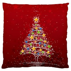 Colorful Christmas Tree Large Cushion Case (Two Sides)