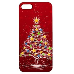 Colorful Christmas Tree Apple iPhone 5 Hardshell Case with Stand