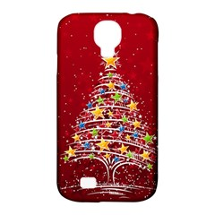 Colorful Christmas Tree Samsung Galaxy S4 Classic Hardshell Case (PC+Silicone)