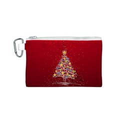 Colorful Christmas Tree Canvas Cosmetic Bag (s)