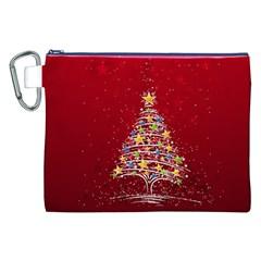 Colorful Christmas Tree Canvas Cosmetic Bag (XXL)