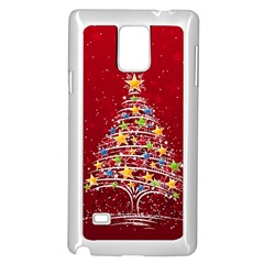 Colorful Christmas Tree Samsung Galaxy Note 4 Case (White)