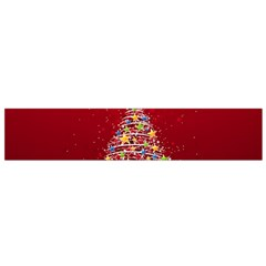 Colorful Christmas Tree Flano Scarf (Small)