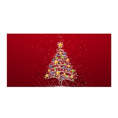 Colorful Christmas Tree Satin Wrap