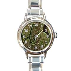 Fractal Complexity 3d Dimensional Round Italian Charm Watch