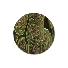 Fractal Complexity 3d Dimensional Magnet 3  (Round)