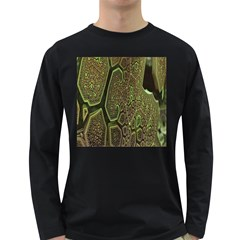 Fractal Complexity 3d Dimensional Long Sleeve Dark T Shirts