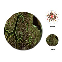 Fractal Complexity 3d Dimensional Playing Cards (Round)