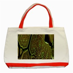 Fractal Complexity 3d Dimensional Classic Tote Bag (Red)