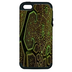 Fractal Complexity 3d Dimensional Apple iPhone 5 Hardshell Case (PC+Silicone)
